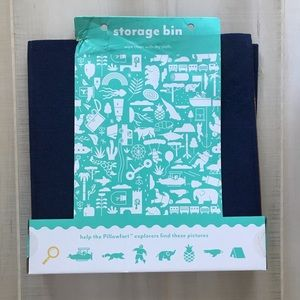 NEW Pillowfort Brand Storage Bin Felt Cube Box